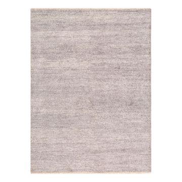 tapis moderne ligne pure viscose gris uni