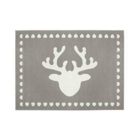 tapis enfant reno gris motif renne lorena canals