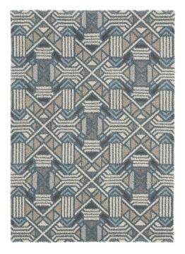 tapis dart - gatsby beige et bleu - avalnico