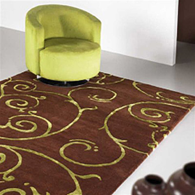 tapis fedora marron carving