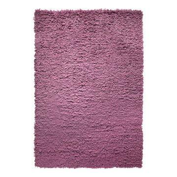 tapis fluffy violet moderne esprit home