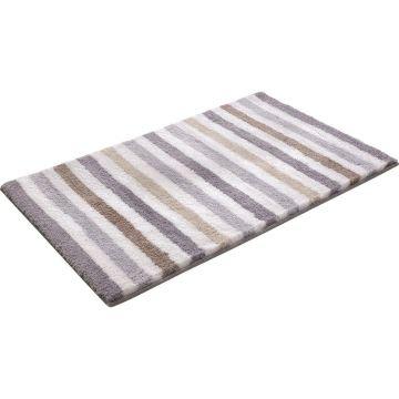 tapis de bain esprit gris line stripe