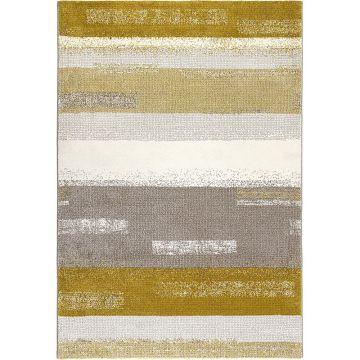tapis moderne dreaming ocre et gris esprit