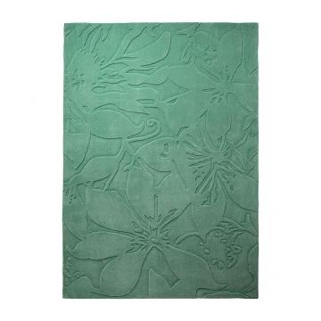 tapis lily vert - esprit home