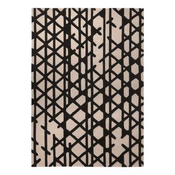 tapis artisan pop noir et blanc - esprit