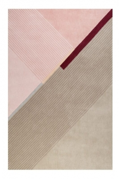 tapis xaz cool noon / summer beige et rose esprit - wecon