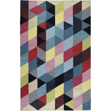 tapis rainbow triangle kelim multicolore - esprit