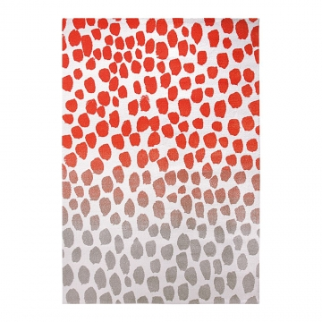 tapis esprit home moderne orange snugs