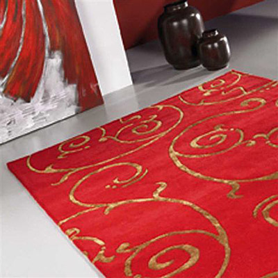 tapis fedora rouge carving