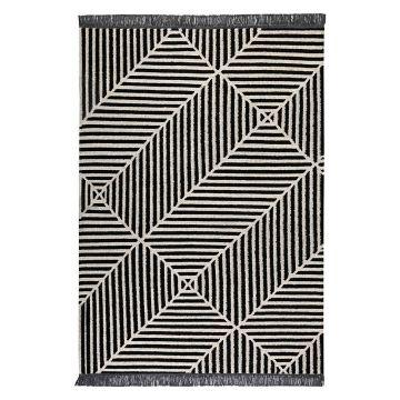 tapis carpets & co. moderne irregular fields noir et blanc