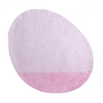 tapis enfant coton stone rose poudré lilipinso