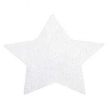 tapis enfant etoile blanc 120x114 lilipinso