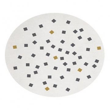 tapis enfant rond imprimé petits carrés 150x150 lilipinso