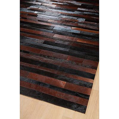 tapis jacob patchwork marron et noir home spirit