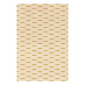 tapis moderne jules wabbes motif maille angelo doré