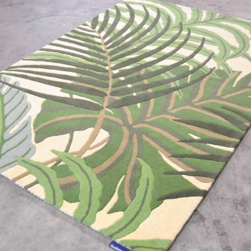 tapis manila green sanderson - avalnico