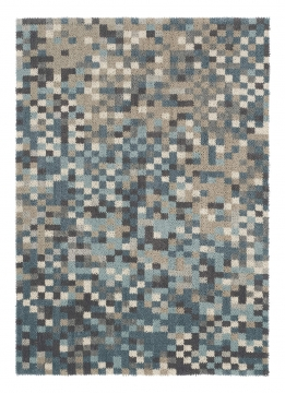 tapis dart - fade beige et bleu - avalnico