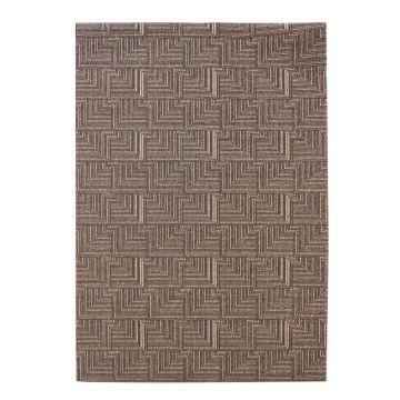 tapis moderne marron foncé pinnacle flair rugs