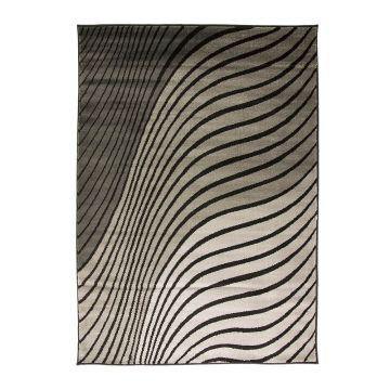 tapis moderne noir et gris ripple flair rugs