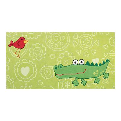 tapis enfant happy zoo crocodile vert sigikid