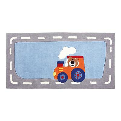 tapis enfant happy street traffic gris et bleu sigikid
