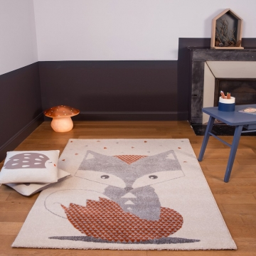 tapis enfant renard - art for kids