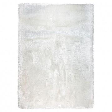 tapis shaggy tissé main blanc adore ligne pure