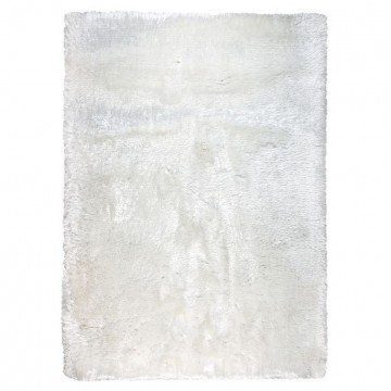 tapis shaggy blanc ligne pure tissé main adore
