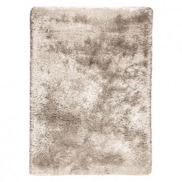tapis shaggy ligne pure tissé main beige adore