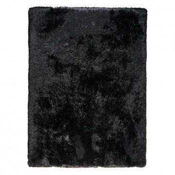 tapis shaggy adore ligne pure tissé main noir