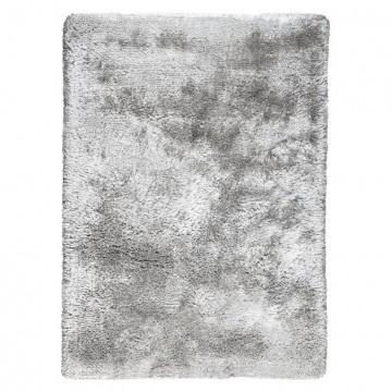 tapis gris shaggy adore ligne pure tissé main