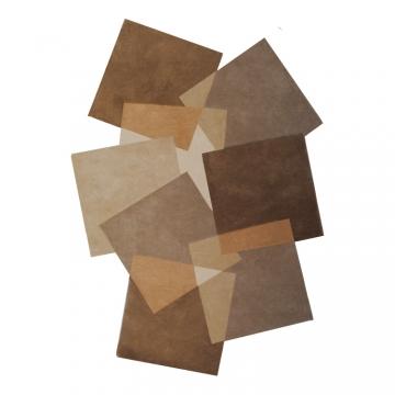 tapis déstructuré pebbles marron taupe angelo