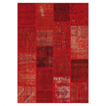 tapis de couloir up-cycle rouge angelo
