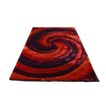 tapis 3d cyclone rouge carving