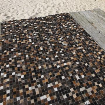 tapis quadra multi en cuir carving