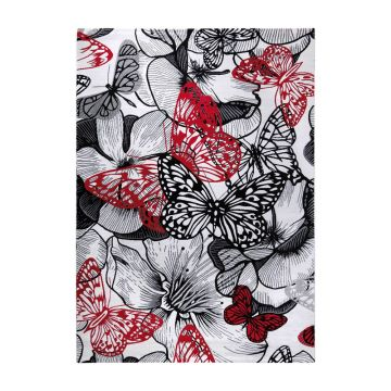 tapis multicolore butterfly kiss moderne wecon