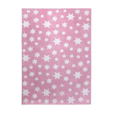 tapis jeans star moderne rose wecon
