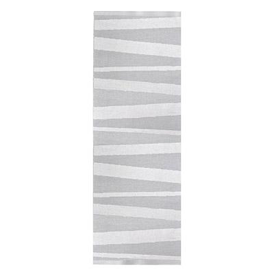 tapis de couloir are rayé gris et blanc sofie sjostrom design