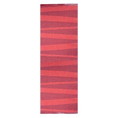 tapis de couloir design are zébré rouge sofie sjostrom