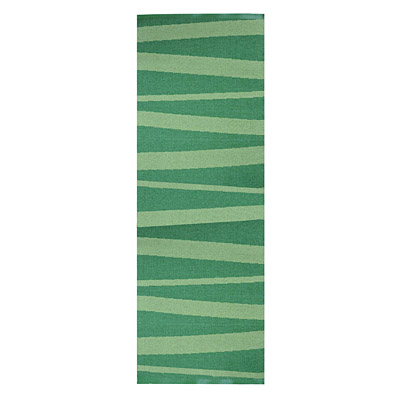 tapis de couloir design are zébré vert - sofie sjostrom