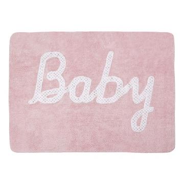tapis enfant baby petit point rose lorena canals