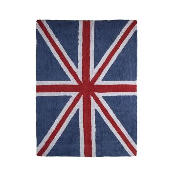tapis enfant flag england bleu et rouge lorena canals