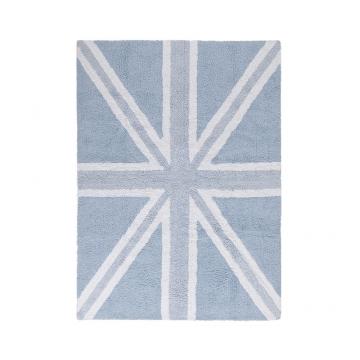 tapis enfant flag england baby bleu lorena canals