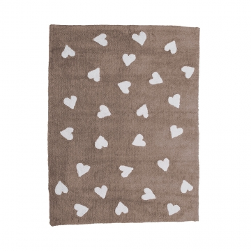 tapis enfant hearts marron lorena canals