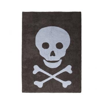 tapis enfant skull dark gris et bleu lorena canals