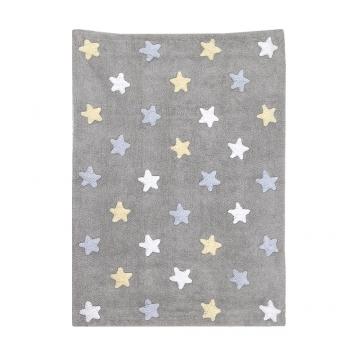 tapis enfant tricolor stars bleu lorena canals