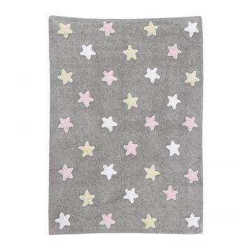 tapis enfant tricolor stars rose lorena canals