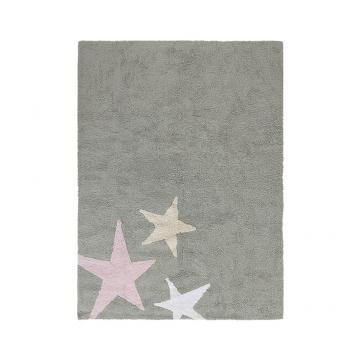 tapis enfant estrellas tricolor gris lorena canals