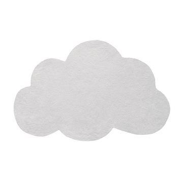 tapis enfant nuage micro chip gris clair lilipinso