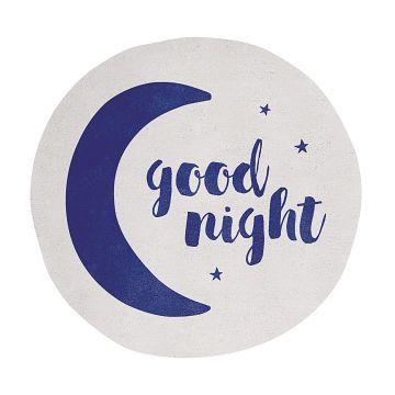 tapis enfant good night bleu et blanc lilipinso